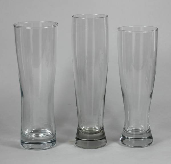 Three Footed Pilsner Glasses