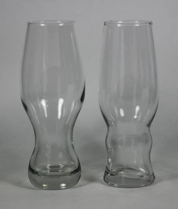 Two Pilsner-esque Hybrid Beer Glasses